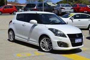 2013 Suzuki Swift FZ MY14 Sport White 7 Speed Constant Variable Hatchback Myaree Melville Area Preview