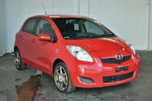 2010 Toyota Yaris NCP90R MY10 YR Red 4 Speed Automatic Hatchback
