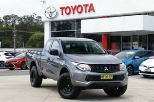 2017 Mitsubishi Triton MQ MY17 GLX Plus (4x4) Silver 5 Speed Automatic Club Cab Pickup Wyoming Gosford Area Preview
