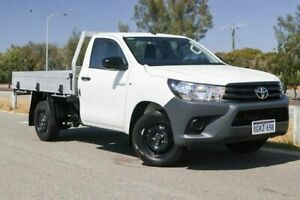 2018 Toyota Hilux TGN121R Workmate Double Cab 4x2 Glacier White 5 Speed Manual Utility Clarkson Wanneroo Area Preview