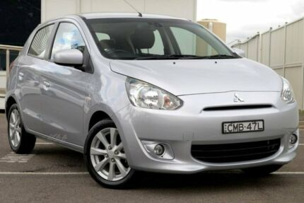 2013 Mitsubishi Mirage LA MY14 LS Silver 5 Speed Manual Hatchback Gosford Gosford Area Preview