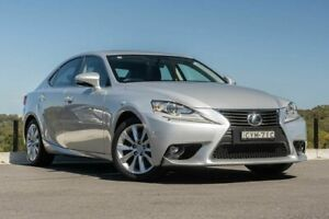 2014 Lexus IS GSE31R IS350 Luxury Silver 8 Speed Sports Automatic Sedan Somersby Gosford Area Preview