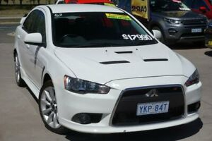 2010 Mitsubishi Lancer CJ MY10 Ralliart TC-SST White 6 Speed Sports Automatic Dual Clutch Sedan Phillip Woden Valley Preview