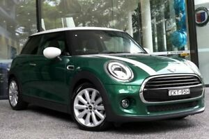 2020 Mini Hatch F56 LCI Cooper DCT British Racing Green 4 7 Speed Sports Automatic Dual Clutch Darlinghurst Inner Sydney Preview