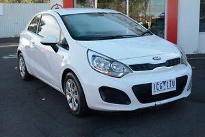 2014 Kia Rio UB MY14 S White 6 Speed Manual Hatchback Upper Ferntree Gully Knox Area Preview