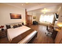 Super Kingsize Room Nice Area South Woodford with LCD MODERN NEW TV Cleaner WiFi on Central Line