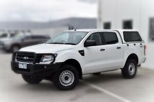 2012 Ford Ranger PX XL Double Cab White 6 Speed Sports Automatic Utility Pakenham Cardinia Area Preview