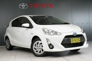 2016 Toyota Prius c NHP10R MY15 Hybrid Glacier White Continuous Variable Hatchback Glebe Inner Sydney Preview