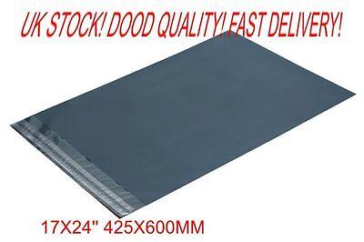 50 x Grey Plastic POLY Mailing Bags 425 x 600 mm 17 x 24 100x 17x24  UK STOCK