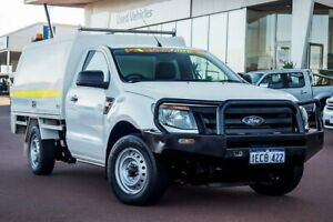 2012 Ford Ranger PX XL 4x2 Cool White 6 Speed Manual Cab Chassis Wangara Wanneroo Area Preview