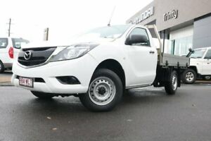2016 Mazda BT-50 UR0YD1 XT 4x2 White 6 Speed Manual Cab Chassis Earlville Cairns City Preview