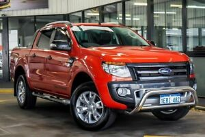 2014 Ford Ranger PX Wildtrak 3.2 (4x4) Orange 6 Speed Automatic Crew Cab Utility