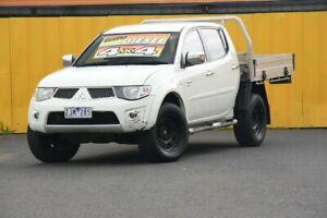 2012 Mitsubishi Triton MN MY12 GLX Double Cab White 5 Speed Manual Utility Cheltenham Kingston Area Preview