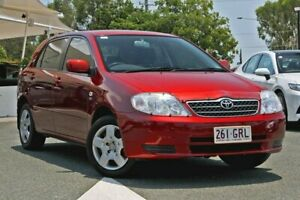 2002 Toyota Corolla ZZE122R Conquest Red 4 Speed Automatic Hatchback