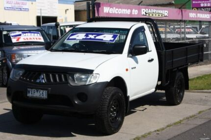 2009 Mitsubishi Triton ML MY09 GLX White 5 Speed Manual Cab Chassis Altona North Hobsons Bay Area Preview