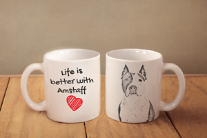 Amstaff cropped - ceramic cup, mug &quot;Life is better &quot;, CA - <span itemprop='availableAtOrFrom'>Zary, Polska</span> - Amstaff cropped - ceramic cup, mug &quot;Life is better &quot;, CA - Zary, Polska