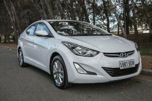 2014 Hyundai Elantra MD3 Trophy White 6 Speed Sports Automatic Sedan Reynella Morphett Vale Area Preview