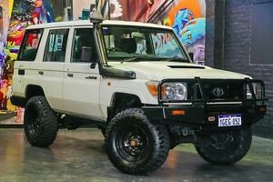 2012 Toyota Landcruiser VDJ76R MY10 Workmate White 5 Speed Manual Wagon Northbridge Perth City Area Preview