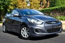 2011 Hyundai Accent RB Active Grey 4 Speed Sports Automatic Hatchback Medindie Walkerville Area Preview