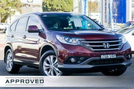 2014 Honda CR-V RM MY15 VTi-S 4WD Maroon 5 Speed Sports Automatic Wagon