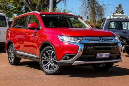 2015 Mitsubishi Outlander ZJ MY14.5 LS 2WD Red 6 Speed Constant Variable Wagon Cannington Canning Area Preview