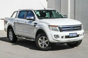 2014 Ford Ranger PX XLT Double Cab 4x2 Hi-Rider White 6 Speed Sports Automatic Utility Rockingham Rockingham Area Preview