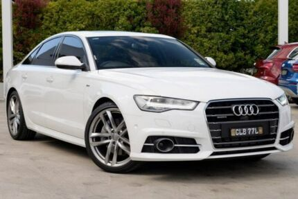 2017 Audi A6 4G MY18 S tronic quattro White 7 Speed Sports Automatic Dual Clutch Sedan Gosford Gosford Area Preview