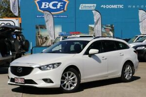 2013 Mazda 6 GJ1031 Touring SKYACTIV-Drive White 6 Speed Sports Automatic Wagon Greenslopes Brisbane South West Preview