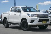 2018 Toyota Hilux GUN126R SR Double Cab White 6 Speed Sports Automatic Utility Pearce Woden Valley Preview