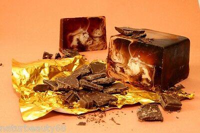 Naturseife Schokolade - handgemachte Duftseife mit Olivenöl ca.80g(100g/4,11€)