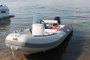 13 FOOT 2016 CENTER CONSOLE RIB INFLATABLE BOAT