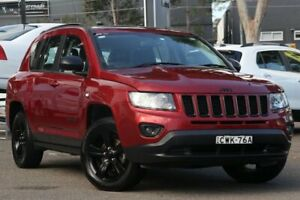 2014 Jeep Compass MK MY14 Blackhawk CVT Auto Stick Red 6 Speed Constant Variable Wagon Condell Park Bankstown Area Preview