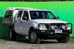 2011 Nissan Navara D40 S6 MY12 RX White 5 Speed Automatic Cab Chassis Ringwood East Maroondah Area Preview