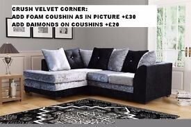 CLASSIC OFFER*** BRAND NEW JUMBO CORD DYLAN CORNER OR 3 SEATER AND 2 SEATER SOFA AT VERY CHEAP PRICE