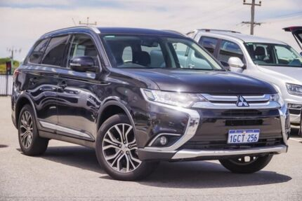 2016 Mitsubishi Outlander ZK MY16 XLS 4WD Black 6 Speed Constant Variable Wagon Myaree Melville Area Preview