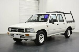 1997 Toyota Hilux Tamworth LE White 5 Speed Manual Dual Cab Pick-up Oakleigh Monash Area Preview