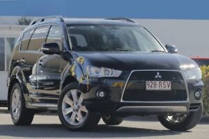 2011 Mitsubishi Outlander ZH MY11 XLS Luxury Black Mica 6 Speed Constant Variable Wagon Rocklea Brisbane South West Preview