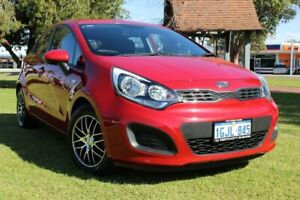 2012 Kia Rio UB MY12 SI Red 6 Speed Manual Hatchback Victoria Park Victoria Park Area Preview