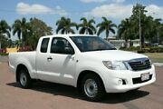 2014 Toyota Hilux GGN15R MY14 SR Xtra Cab 4x2 White 5 Speed Automatic Utility Townsville Townsville City Preview