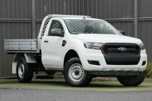 2017 Ford Ranger PX MkII XL 4x2 Hi-Rider White 6 Speed Sports Automatic Cab Chassis Wantirna South Knox Area Preview
