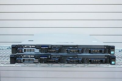 LOT OF 2 Dell Poweredge R410 2 X QUAD CORE 2.40GHZ E5620 16GB RAM SERVERS////