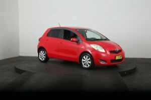 2008 Toyota Yaris NCP91R 08 Upgrade YRS Red 4 Speed Automatic Hatchback