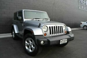 2012 Jeep Wrangler JK MY2013 Overland Silver 5 Speed Automatic Hardtop Somerton Park Holdfast Bay Preview