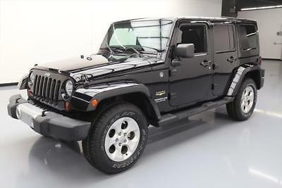 2013 Jeep Wrangler Unlimited Sahara Sport Utility 4 Door 2013 Jeep Wrangler Unltd Sahara Hard Top 4X4 Nav 65K Mi  513162 Texas Direct