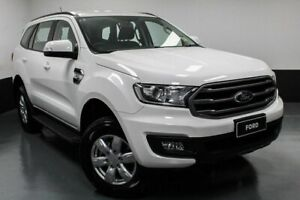 2018 Ford Everest UA II 2019.00MY Ambiente RWD Arctic White 6 Speed Sports Automatic Wagon Hamilton East Newcastle Area Preview