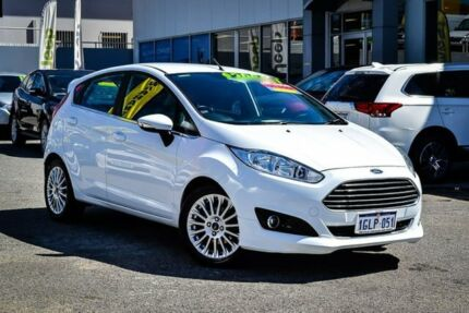 2015 Ford Fiesta WZ MY15 Sport PwrShift White 6 Speed Sports Automatic Dual Clutch Hatchback Myaree Melville Area Preview