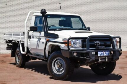 2014 Toyota Landcruiser VDJ79R MY13 Workmate White 5 Speed Manual Cab Chassis Bayswater Bayswater Area Preview