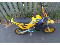Mini Moto Dirt Bike Scrambler 50cc Many new parts fitted Fully Working