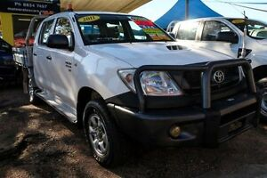 2011 Toyota Hilux KUN26R MY10 SR White 5 Speed Manual Cab Chassis Minchinbury Blacktown Area Preview