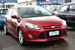 2015 Ford Focus LW MkII MY14 Sport PwrShift Red 6 Speed Sports Automatic Dual Clutch Hatchback Cheltenham Kingston Area Preview